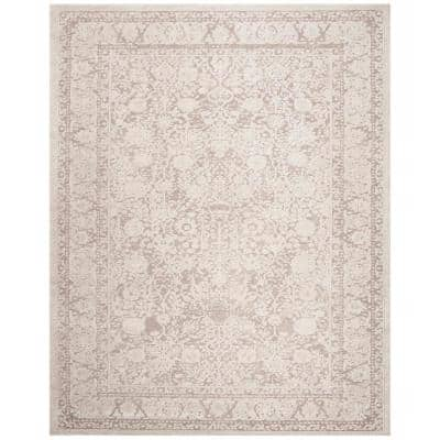 Reflection Beige/Cream 9 ft. x 12 ft. Border Distressed Area Rug