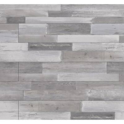 "7.13"" W x 48.03"" Woodland Hoffman Gray Rigid Core Click Lock Luxury Vinyl Plank Flooring(55-case/1307.35 sq. ft./pallet)"