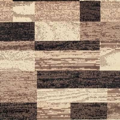 Rockwood Chocolate 8 ft. x 10 ft. Rectangle Abstract Geometric Polypropylene Area Rug