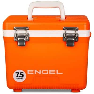 7.5 Qt. Camping Leakproof, Airtight Drybox, Lunchbox and Cooler in Orange