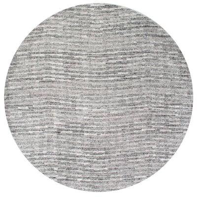 Sherill Modern Ripples Gray 4 ft. Round Rug