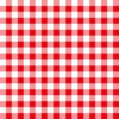 52 in. x 90 in. Red Gingham Pattern All Natural Insect Repellent Tablecloth (1-Pack)
