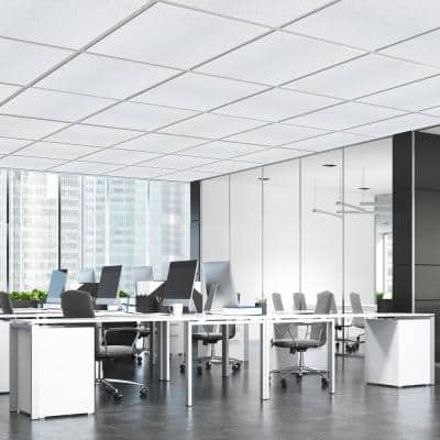 Mineral Fiber 2 ft. x 2 ft. Lay-In Tegular Edge 9 in./16 in. White Spray Ceiling Tile (1-Pallet)