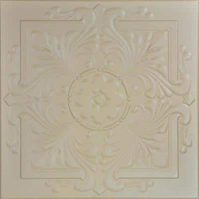 Victorian 1.6 ft. x 1.6 ft. Glue Up Foam Ceiling Tile in Lenox Tan