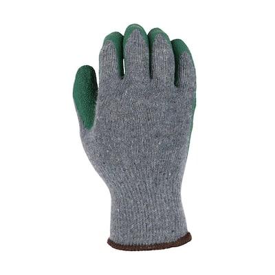 Men's Large Latex Coated Gloves (3-Pack)