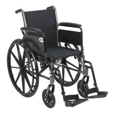 Cruiser III Wheelchair with Flip Back Removable Arms, Full Arms and Swing Away Footrests