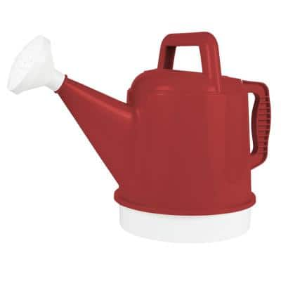 Deluxe 2.5 Gal. Burnt Red Plastic Watering Can