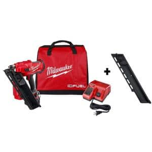 M18 FUEL 3-1/2 in. 18-Volt 30-Degree Lithium-Ion Brushless Cordless Framing Nailer Kit w/ Battery, Extended Capacity Mag
