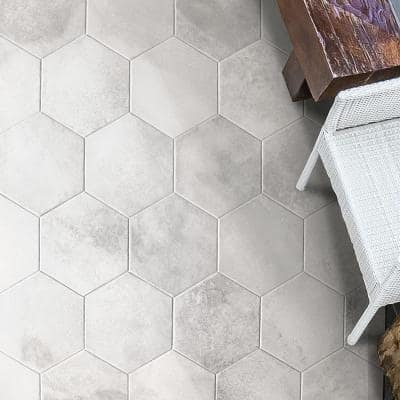 Hayes Blanco 7.87 in. x 9.44 in. Matte Porcelain Floor and Wall Tile (9.84 sq. ft./Case)