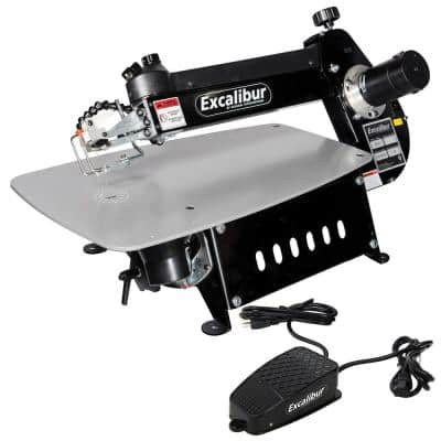 120-Volt 21 in. Tilting Head Scroll Saw with Foot Switch