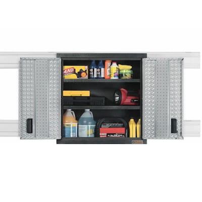 Premier Series Steel 2-Shelf Wall Mounted Garage Cabinet in Charcoal (30 in W x 30 in H x 12 in D)