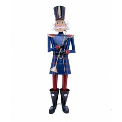 59 in. Tall Christmas Nutcracker with Trumpet