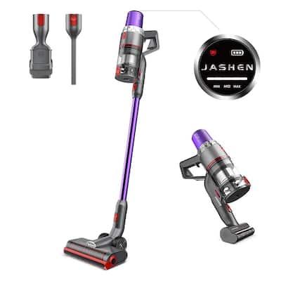 JASHEN V16 Cordless Stick Vacuum Cleaner, 350-Watt Strong Suction Vacuum Ultra-Quiet for Carpet Hardwood Floor Rug Pet