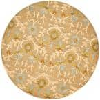 Cambridge Moss/Multi 4 ft. x 4 ft. Round Area Rug