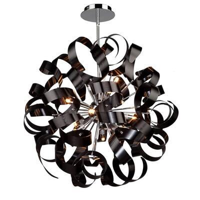 12-Light Metallic Black Pendant