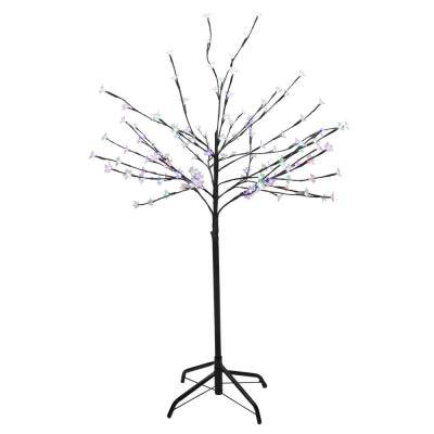 48 in. Color Changing LED Lighted Lights Cherry Blossom Flower Tree