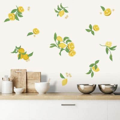 Lemons Peel and Stick Wall Decals (set of 20)