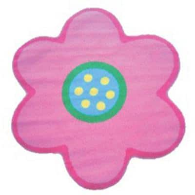 Fun Time Shape Poppy Light Pink 3 ft. x 3 ft. Area Rug