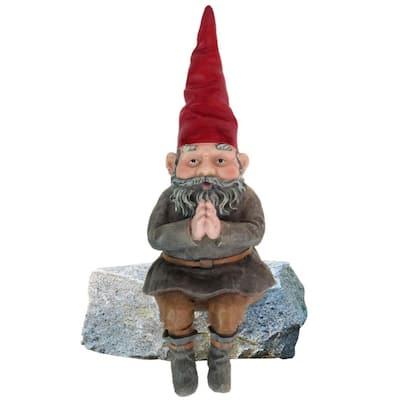 12-1/2 in. Mordecai the Gnome Shelf Sitter Statue