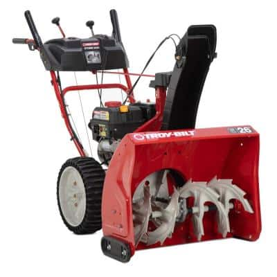 Storm 26 in. 243 cc 2-Stage Self Propelled Gas Snow Blower with Electric Start and Airless Tires