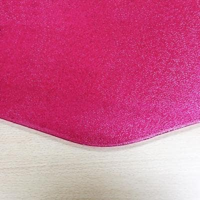 """Colortex® 9Mat® Polycarbonate 9-Sided Pink Gaming E-Sport Chair Mat for Hard Floors - 38"""" x 39"""""""