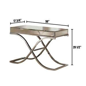 Sundance 48 in. Chrome Standard Rectangle Glass Console Table