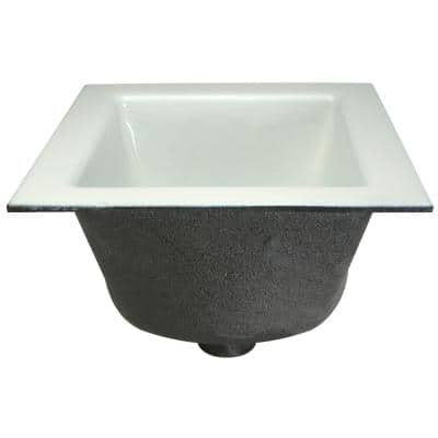 12 in. x 12 in. Acid Resisting Enamel Coated Floor Sink with 2 in. Push-On Connection and 6 in. Sump Depth