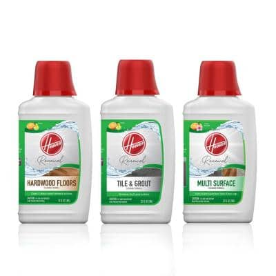 Hard Floor Cleaner 3-pack Bundle with Hardwood, Multi-Surface, and Tile and Grout Floor Cleaner Solution