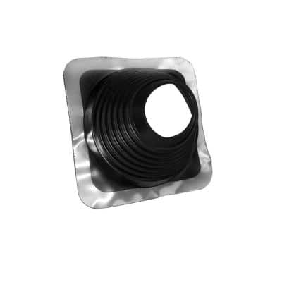 No-Calk Master Flash 12-1/2 in. x 11-3/4 in. Rubber Vent Pipe Roof Flashing with Adjustable Diameter