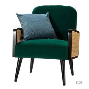 Elva Green Rattan Armchair