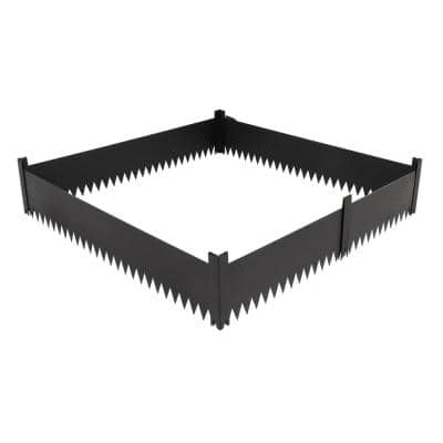 7.87 in. Iron Garden Fence Landscape Fence (Set of 4)