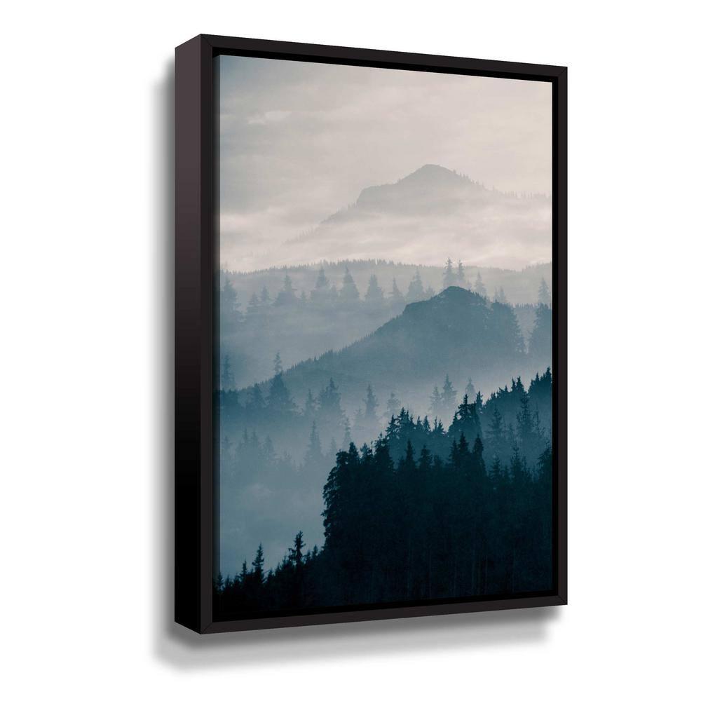 Artwall Blue Mountains I By Photoinc Studio Framed Canvas Wall Art 5pst232a1624f The Home Depot