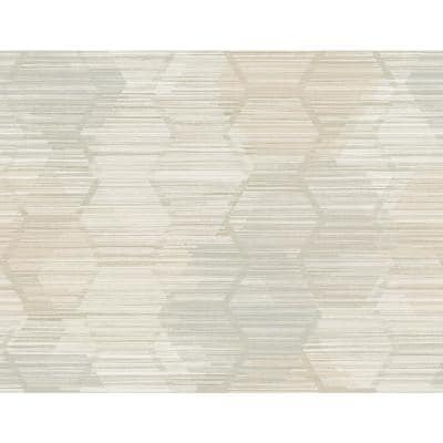 Jabari Wheat Geometric Faux Grasscloth Paper Strippable Roll (Covers 60.8 sq. ft.)