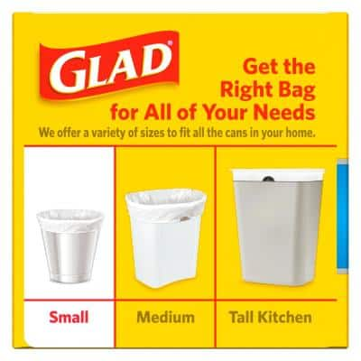 4 Gal. White Fresh Clean OdorShield Quick-Tie Small Trash Bags (26-Count)
