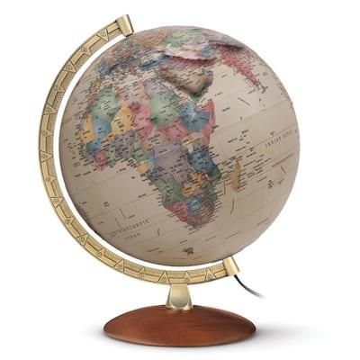 Athens 12 in. Illuminated Raised Relief Desktop Globe
