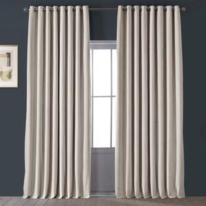 Ivory Grommet Blackout Curtain - 100 in. W x 84 in. L