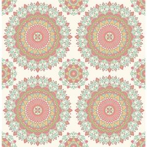 Gemma Aqua Boho Medallion Aqua Wallpaper Sample