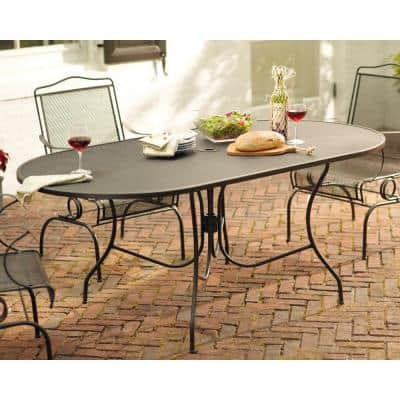 Oval Metal Patio Tables, Rod Iron Patio Furniture Home Depot