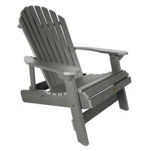King Hamilton Coastal Teak Folding and Reclining Recycled Plastic Adirondack Chair