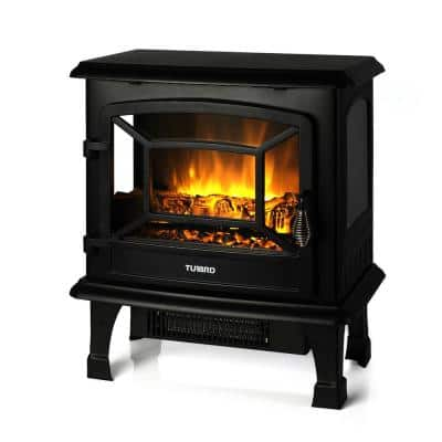 Suburbs  TS20 17 in.  Freestanding Electric Fireplace in Black
