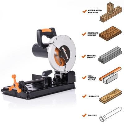 10 Amp 7-1/4 in. Chop Saw with Multi-Material 20-T Blade
