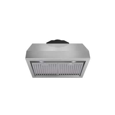 30 in. Tall Undercabinet Range Hood with Light in Stainless Steel