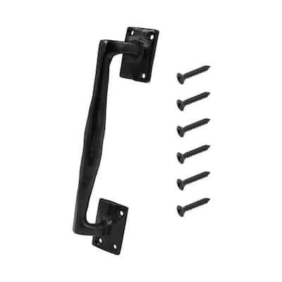 Black Heavy-Duty Rod Iron Gate Pull