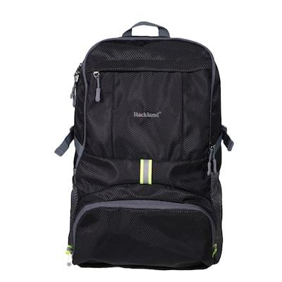 19 in. Black Packable Stowaway Backpack