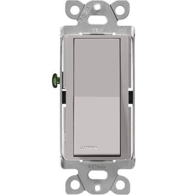 Claro On/Off Switch, 15-Amp, 3-Way, Gray