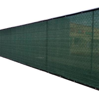 68 in. x 25 ft. Green Privacy Fence Screen Plastic Netting Mesh Fabric Cover with Reinforced Grommets for Garden Fence