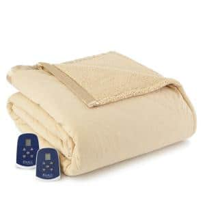 Sherpa Reverse King Chino Electric Heated Blanket
