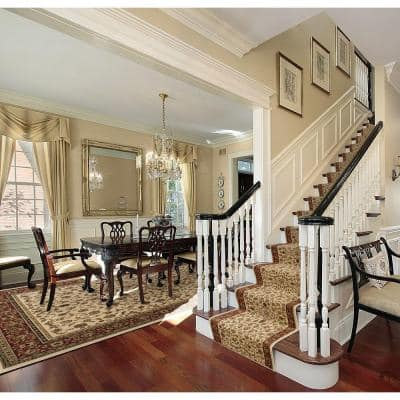 Sapphire Sarouk Ivory 33 in. x Your Choice Length Stair Runner