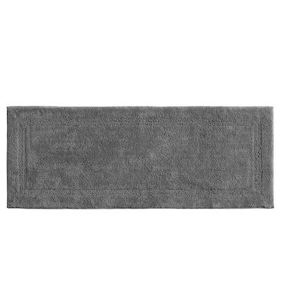 Peniston Solid Dark Gray Cotton 22 in. x 60 in. Rug