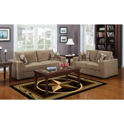 Nairobi Collection Brown 5 ft. x 7 ft. Lone Star Area Rug